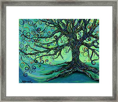 Searching Branches Framed Print by RK Hammock