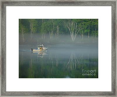 Searching For The Buoy Framed Print by Christopher Mace