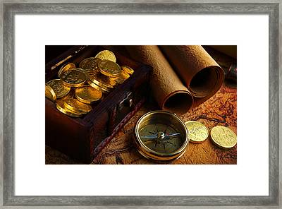 Searching For The Gold Treasure Framed Print by Gianfranco Weiss