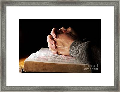 Searching The Heart Of God Framed Print