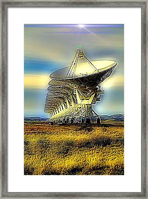 Searching The Stars Framed Print by Jeff Swan