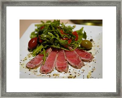Seared Tuna Framed Print