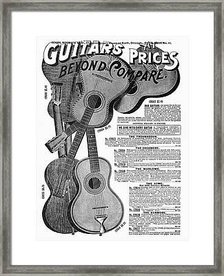 Sears Ad Guitars, 1902 Framed Print by Granger