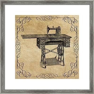 Sears Catalog Sewing Machine  1907 Framed Print by Daniel Hagerman