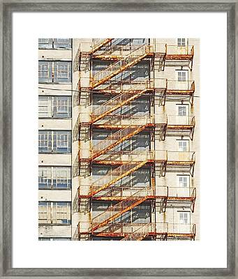 Sears Crosstown Fire Escape Memphis Tn Framed Print by Lizi Beard-Ward