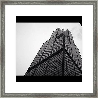 Sears Tower Framed Print by Mike Maher
