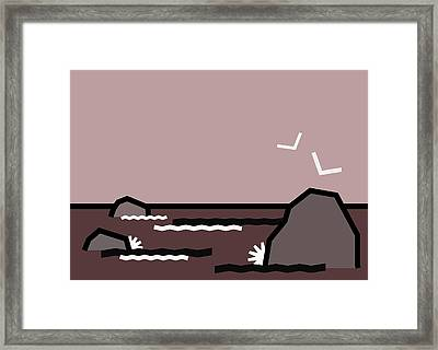 Seascape 1 Framed Print by Kenneth North