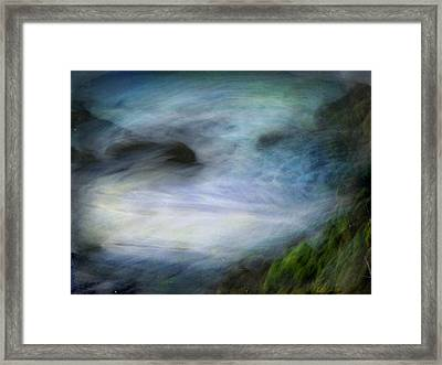 Framed Print featuring the photograph Seascape #14. Sighs by Alfredo Gonzalez