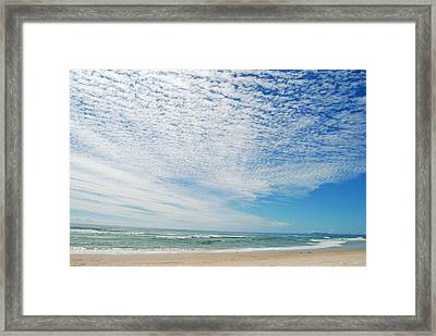 Framed Print featuring the photograph Seascape 2 by Ankya Klay