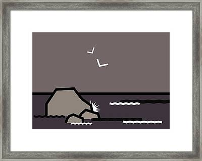 Seascape 2 Framed Print by Kenneth North