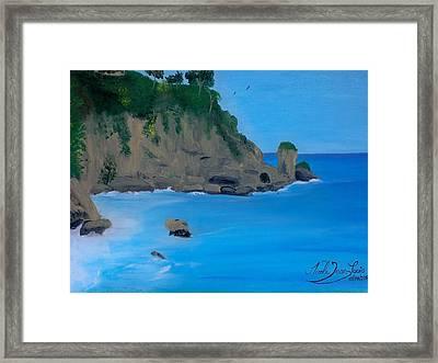 Seascape 2 Framed Print by Nicole Jean-Louis