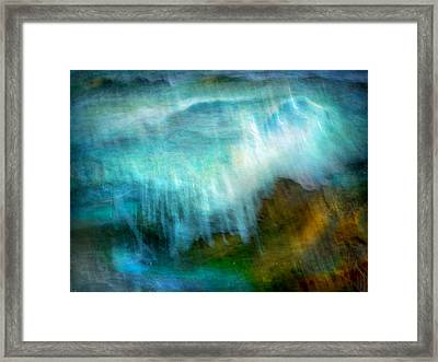 Framed Print featuring the photograph Seascape #20 - Touching Your Hand by Alfredo Gonzalez