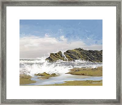 Seascape 20 Framed Print by Jim Hubbard