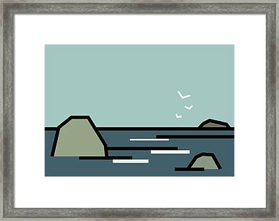 Seascape 3 Framed Print by Kenneth North