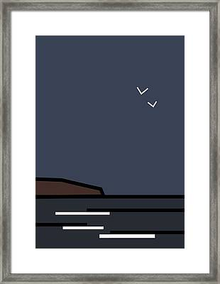 Seascape 4 Framed Print by Kenneth North