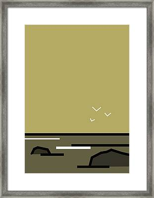 Seascape 5 Framed Print by Kenneth North