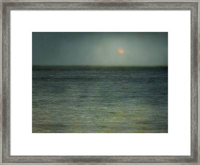 Framed Print featuring the photograph Seascape #5. Sun Sea Horizon by Alfredo Gonzalez
