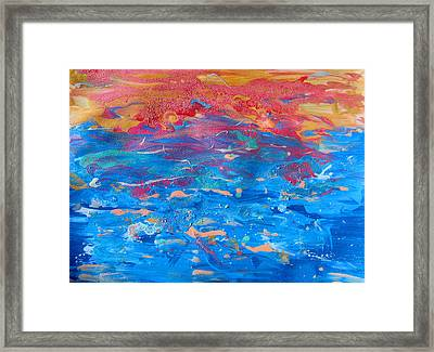 Seascape Abstract Framed Print by Julia Fine Art