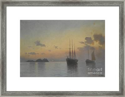 Seascape Framed Print by Celestial Images