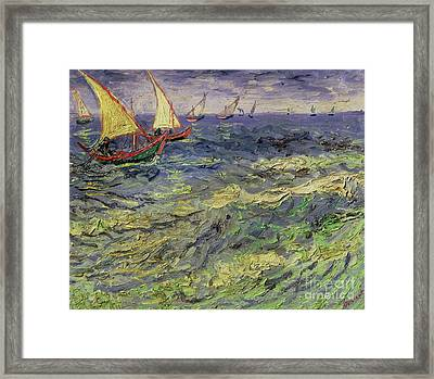 Seascape At Saintes-maries 1888 Framed Print by Vincent van Gogh