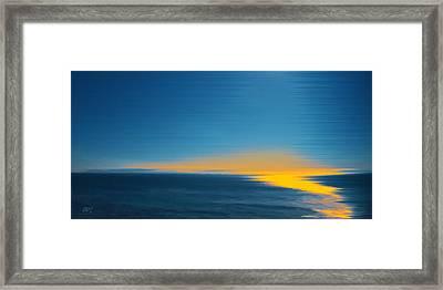 Seascape At Sunset Framed Print by Ben and Raisa Gertsberg
