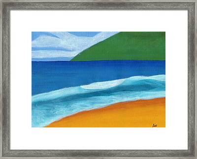 Seascape Framed Print by Bav Patel