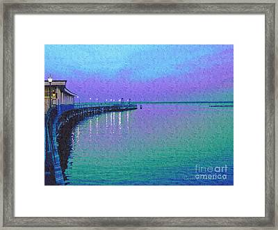 Painterly Seascape Purple Flurry Framed Print by Carol F Austin