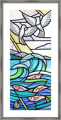 Seascape Framed Print by Gilroy Stained Glass