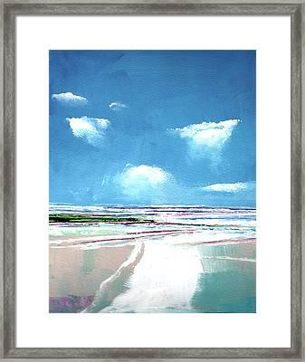 Seascape Iv Framed Print by Stuart Roy