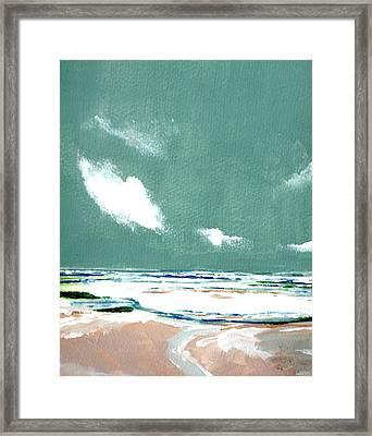 Seascape Ix Framed Print by Stuart Roy