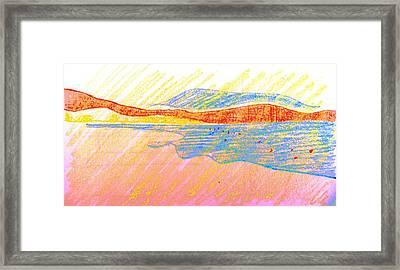 Seascape Limassol Cyprus Framed Print