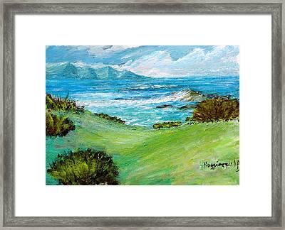Seascape Framed Print by Mauro Beniamino Muggianu