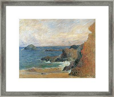 Seascape Framed Print by Paul Guaguin