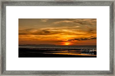 Seascape Sunset 2 Framed Print by Adrian Evans