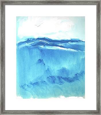 Seascape Vi Framed Print by Stuart Roy