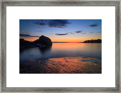 Seascape With Rocks Framed Print by Teemu Tretjakov