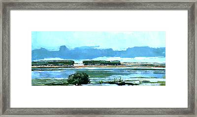 Seascape Xii Framed Print by Stuart Roy
