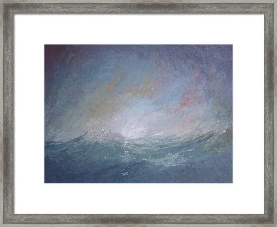 Seascape1 Framed Print by Sean Conlon