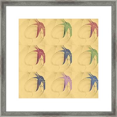 Seashell In Pop Art Framed Print by Tommytechno Sweden