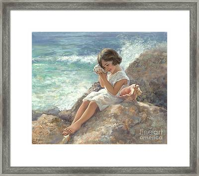 Seashell Magic Framed Print by Laurie Hein