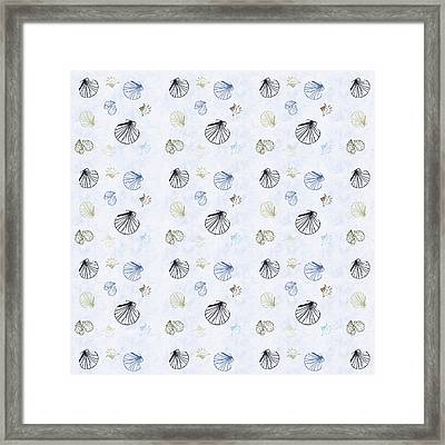 Seashell Pattern Framed Print by Christina Rollo