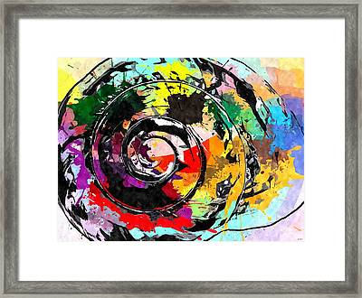 Seashell Pop Art Framed Print by Daniel Janda