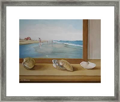 Seashells By The Jersey Shore Framed Print by Lauren Sweeney