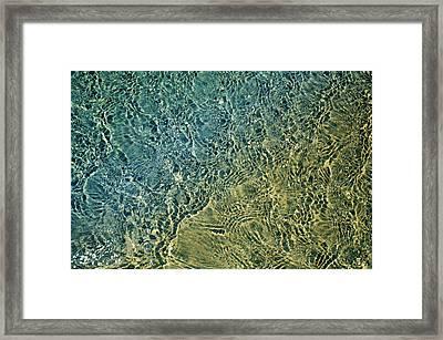 Seashore Abstract Framed Print