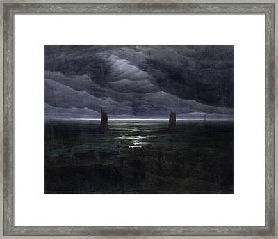Seashore By Moonlight Framed Print