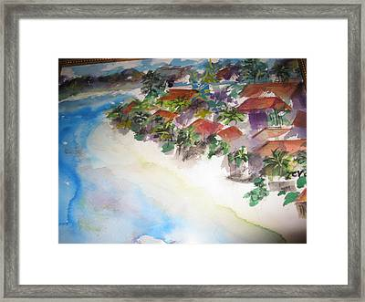 Seashore In Bali Framed Print