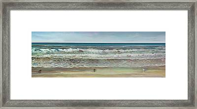 Seashore Ocean Panorama Framed Print