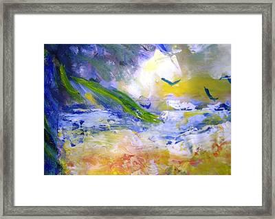 Seashore Windy Days Framed Print