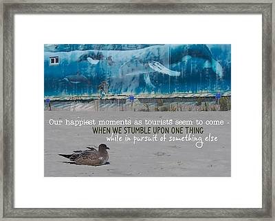 Seaside Art Gallery Quote Framed Print by JAMART Photography