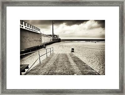 Seaside Beach Entry Framed Print by John Rizzuto